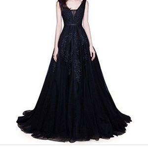NWT black formal long gown/dress
